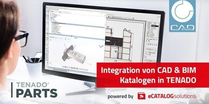 TENADO baut Integration von CAD & BIM Katalogen powered by CADENAS aus