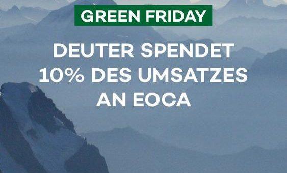 Deuter: Spenden statt Sparen am Green Friday