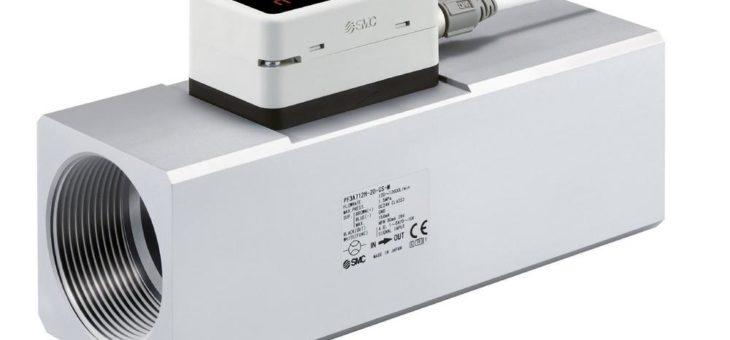 Mehr Effizienz durch Kontrolle: digitaler Durchflussschalter PF3A7H mit IO-Link für hohen Volumenstrom