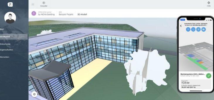 Optimale Kontrolle über den Baufortschritt –  NOVA Aufmaß App mit BIM Integration