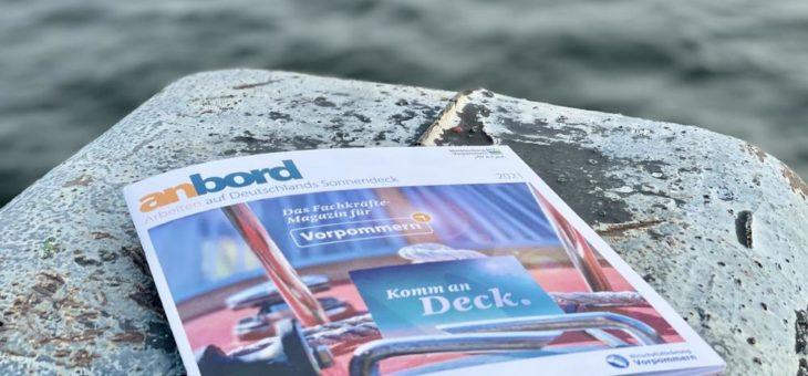 """7. Auflage des Fachkräftemagazins """"anbord"""" präsentiert sich in neuer Haptik, höherer Auflage und mit mehr Partnern"""