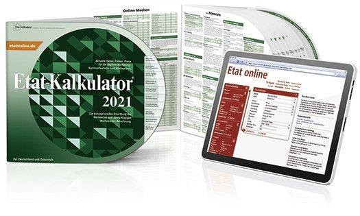 Was kostet Werbung? Der neue Etat-Kalkulator® 2021 gibt Antwort