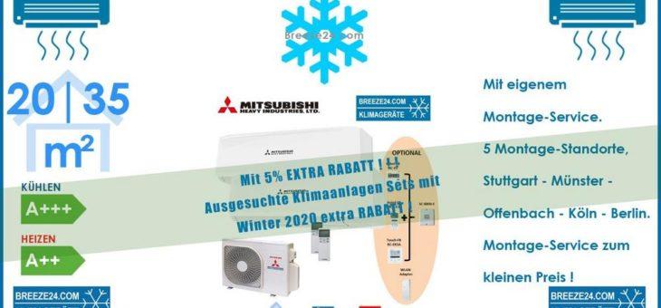 Mitsubishi Heavy Klimaanlage Wandgerät SRK 20 ZS-W + SRK 35 ZS-W + Außengerät SCM 40 ZS-W R32 Set für 2 Zimmer mit je 20 | 35 m²