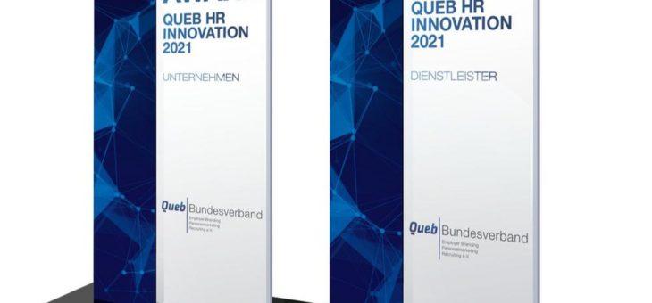 Queb HR Innovation Awards 2021: Die Bewerbungsfrist läuft bis Ende Februar 2021