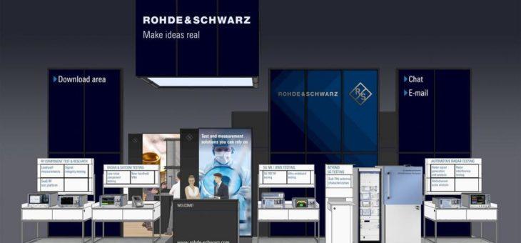 EuMW virtual: Rohde & Schwarz zeigt zuverlässige Mikrowellen-Testlösungen für zukunftsweisende Anwendungen