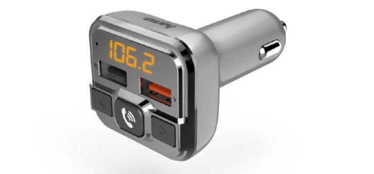 FM-Transmitter mit Bluetooth- und Freisprechfunktion