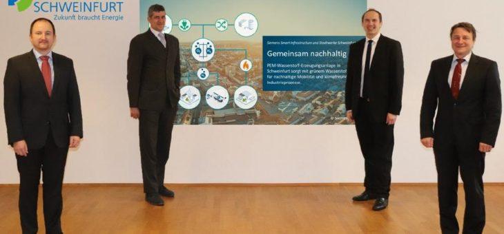Siemens und Stadtwerke Schweinfurt forcieren Zusammenarbeit bei grünem Wasserstoff