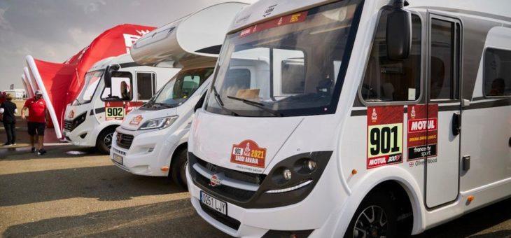 Rally Dakar – zwei Wohnmobile von Bürstner begleiten das Team SRT Racing