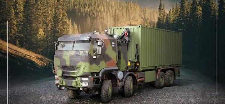 Iveco Defence Vehicles liefert die 3. Generation der geschützten militärischen GTF-8×8 (ZLK 15 t)-Lkw an die Bundeswehr