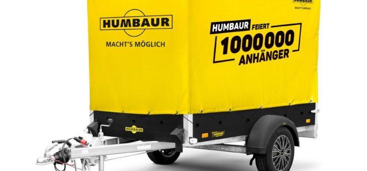 Humbaur feiert 1 Million Anhänger mit schicken Sondermodellen