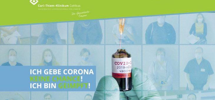 'Ich gebe Corona keine Chance. Ich bin geimpft.'