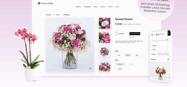 Blumenläden können ALZURA Shop 6 Monate kostenlos nutzen