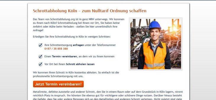 Schrottabholung in Köln: Direkt ohne Zwischenhändlerchum