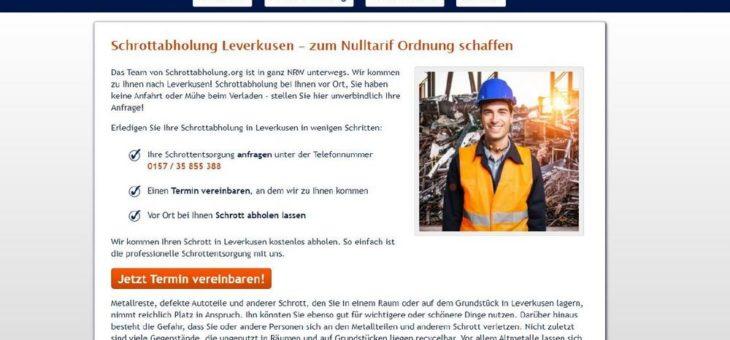 Die Schrottabholung in Leverkusen entsorgt Ihren Metallschrott
