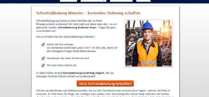 Altmetallabholung in Münster: mit Metall Geld verdienen
