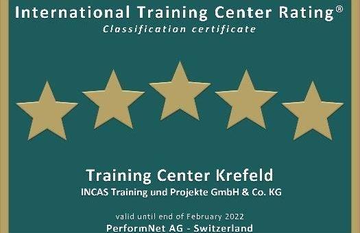Fünf-Sterne-Auszeichnung für das IT-Training Center der INCAS in Krefeld