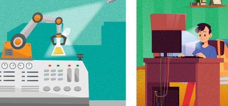 Schüler-Experimente von zu Hause mit Chemistry4Future