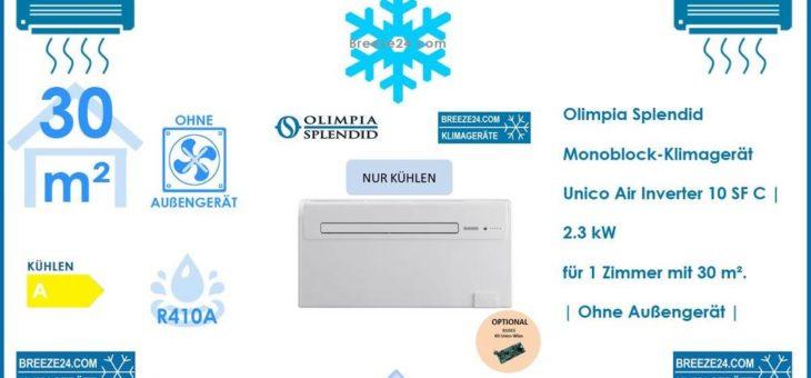 Olimpia Splendid Monoblock-Klimagerät | Unico Air Inverter 10 SF C R410A für 1 Zimmer mit 28 – 35 m²