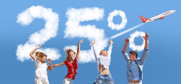 Corendon Airlines bietet Familien mit Kindern 25 % Ermäßigung!