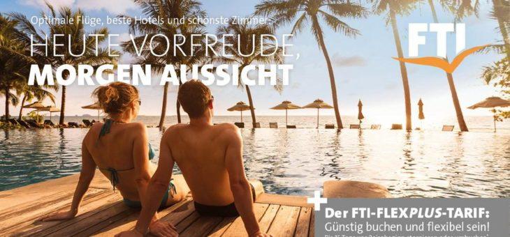 FTI festigt Vorfreude auf Urlaubsstart mit fairen Storno-Optionen