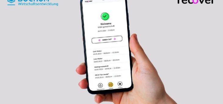 Recover App: Bochum Wirtschaftsentwicklung ermöglicht Kontaktverfolgung für weitere Branchen