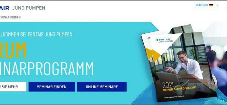 Das Seminarprogramm 2021 von Pentair Jung Pumpen