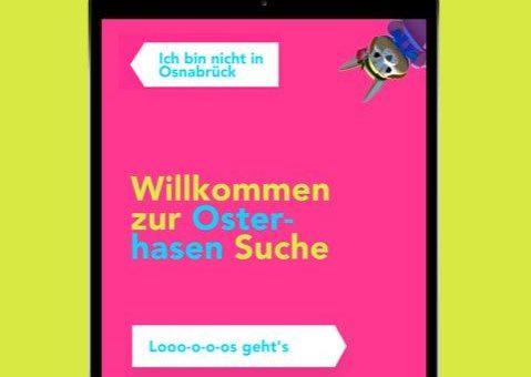 Virtuelle Ostersuche in der Osnabrücker Innenstadt