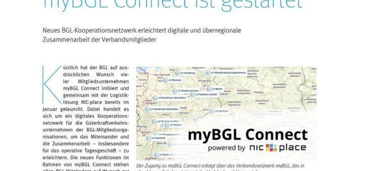 myBGL Connect ist gestartet