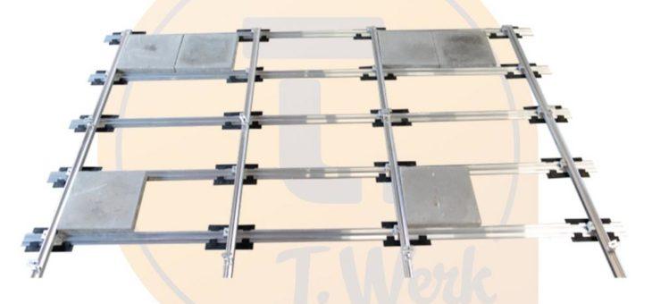 Für Solarmodule nicht-invasives Ballast-System für Photovoltaik-Anlagen am Schrägdach