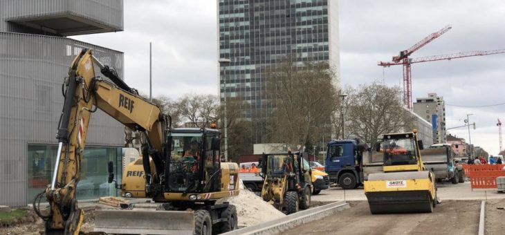 Die Hilfsbrücken am Karlstor sind ausgehoben – jetzt beginnt der Rohbau am letzten Abschnitt des Autotunnels