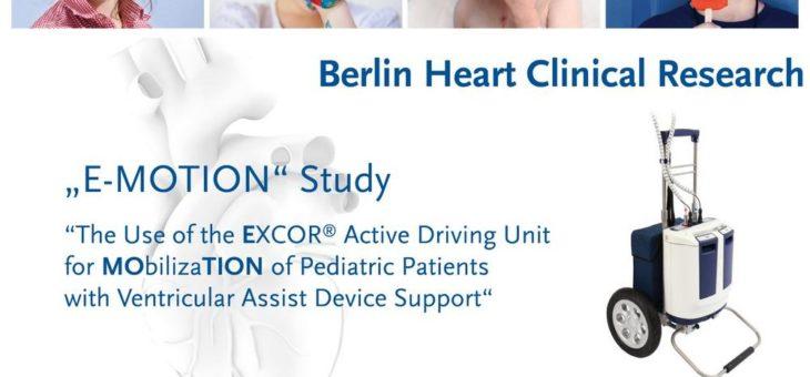 """Berlin Heart untersucht in der klinischen Studie """"E-MOTION"""" eine innovative Mobilisierungsoption für herzkranke Kinder"""
