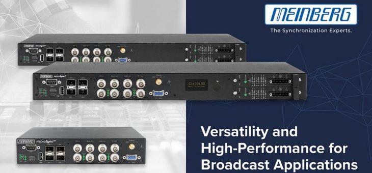 Kompakte und flexible Synchronisationslösung für Broadcast-Umgebungen