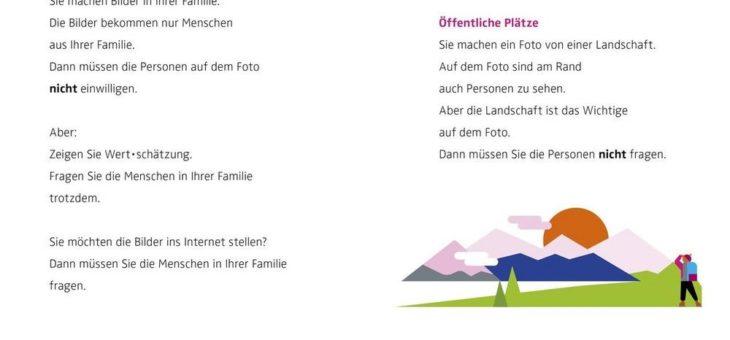 BLM startet Versandaktion für Broschüre zum Recht am Bild in Leichter Sprache