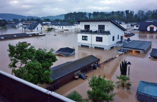 R+V: Unwetter Bernd treibt Schäden auf 387 Millionen Euro